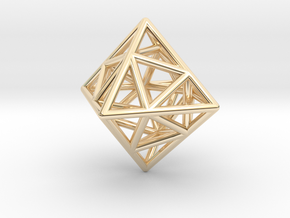 Icosa-Octahedron in 14K Yellow Gold