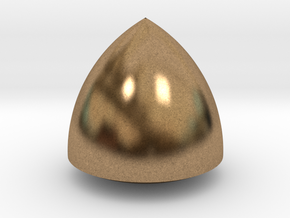 Revolved Reuleaux Triangle in Natural Brass
