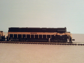 Atlas Alco C-628 Dummy Chassis Kit - N Scale 1:160 in Smooth Fine Detail Plastic