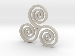 Triple Spiral in Sandstone