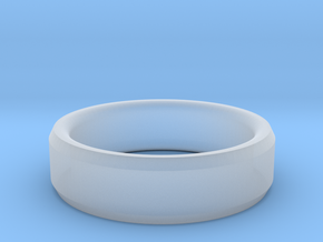 Mens Wedding Band in Smooth Fine Detail Plastic: 8 / 56.75