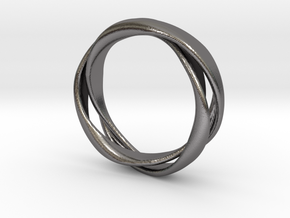 3-Twist Ring in Polished Nickel Steel