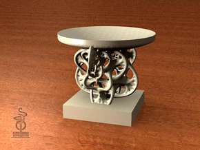 Candle holder - Woven fractal  in Sandstone