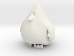 Penguin 6cm in White Natural Versatile Plastic