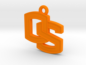 Oregon State OS logo Pendant in Orange Processed Versatile Plastic