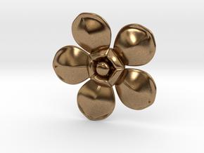 Flower in Natural Brass