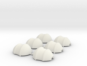 Loose Shells Millimeters in White Natural Versatile Plastic