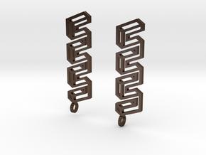 Endless Road Earings in Polished Bronze Steel