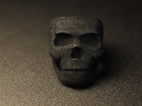 Skull Ring Size 7.25 in Black Strong & Flexible