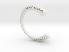 LOFF - C-wire ring in White Natural Versatile Plastic