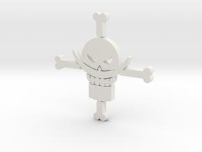 White Beard - One Piece in White Natural Versatile Plastic