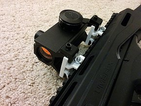 Mount MP5 Scope to Picatinny Rail Adapter in White Strong & Flexible