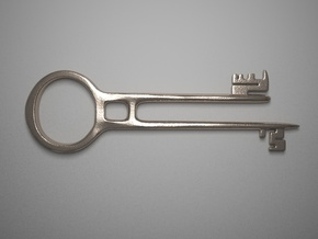 Davy Jones's Key in Polished Bronzed Silver Steel