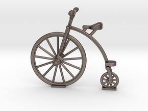 Old Bike in Polished Bronzed Silver Steel