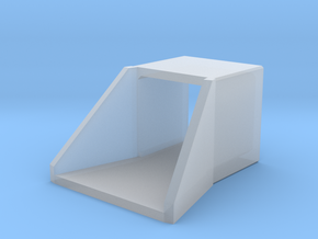 N/H0 Box Culvert Flared Headwall (size 1) in Smooth Fine Detail Plastic