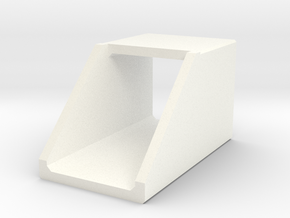 N/H0 Box Culvert Headwall (size 1) in White Processed Versatile Plastic