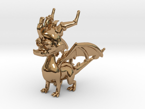 Spyro the Dragon Pendant/charm in Polished Brass