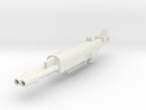 Generations Leader Class Skyfire G1 Rifle Big in White Natural Versatile Plastic