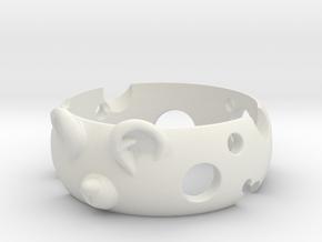 MouseRing S7 in White Natural Versatile Plastic: 6 / 51.5