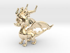 Spyro the Dragon in 14K Yellow Gold