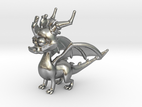 Spyro the Dragon in Natural Silver