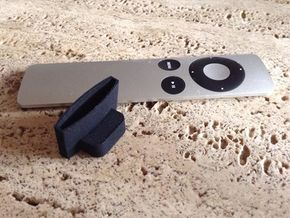 Apple TV remote holder  in Black Natural Versatile Plastic
