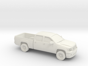 1/87 2010 GMC Sierra in White Natural Versatile Plastic