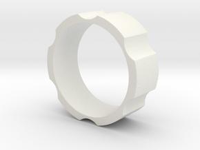 RAS - revolveHER - Mens Ring in White Natural Versatile Plastic