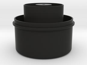 RainFilter Cover (part 1 of 2) in Black Natural Versatile Plastic