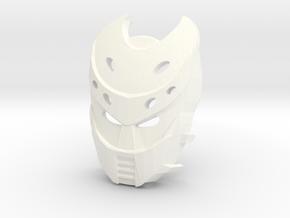 Kanohi Blocko-1 (Bionicle) in White Processed Versatile Plastic