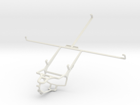 Controller mount for PS4 & Vodafone Smart Tab II 1 in White Natural Versatile Plastic