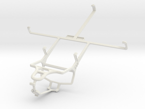 Controller mount for PS4 & Yezz Epic T7 in White Natural Versatile Plastic