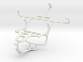 Controller mount for PS4 & ZTE Blade C V807 in White Natural Versatile Plastic