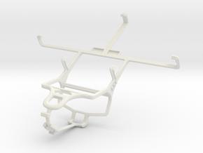 Controller mount for PS4 & ZTE Grand Memo V9815 in White Natural Versatile Plastic