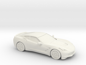 1/87 2014 Chevrolet Corvette Stingray C7  in White Natural Versatile Plastic