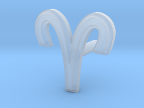 Aries Earring in Smooth Fine Detail Plastic