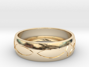 Size 11 Ring engraved in 14K Yellow Gold
