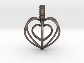 Heart Top in Polished Bronzed Silver Steel