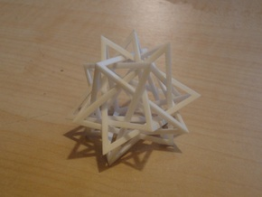 interlocked pyramids in White Natural Versatile Plastic