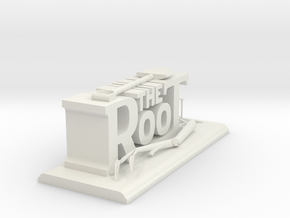 The Root - Desk Sculpture  in White Strong & Flexible