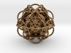 3d Flower of Life with 8 Seeds: Sacred Geometry in Natural Brass