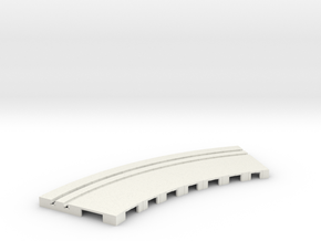 P-65stp-curve-tram-road-outer-145r-100-pl-1a in White Natural Versatile Plastic