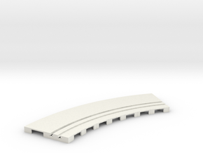 P-65stp-curve-tram-road-inner-145r-100-pl-1a in White Natural Versatile Plastic