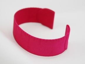 Loved Beyond Measure - Cuff Bracelet in Pink Processed Versatile Plastic
