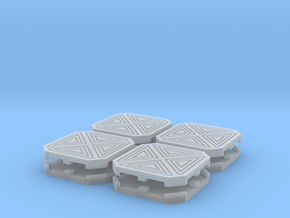 15mm/28mm Sci-Fi Cargo Pallets (8pcs) in Smooth Fine Detail Plastic