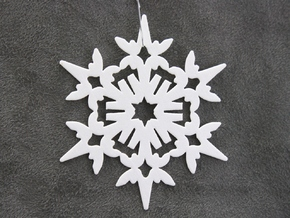 Wings Snowflake - Flat in White Natural Versatile Plastic