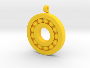 Ball Bearing Pendant in Yellow Processed Versatile Plastic