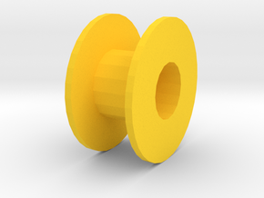 2mm Shaft Pulley in Yellow Processed Versatile Plastic