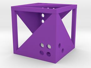 Dice20 in Purple Processed Versatile Plastic