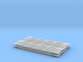Phosphate Roof for P-9 hopper HO 4 Pack in Smooth Fine Detail Plastic